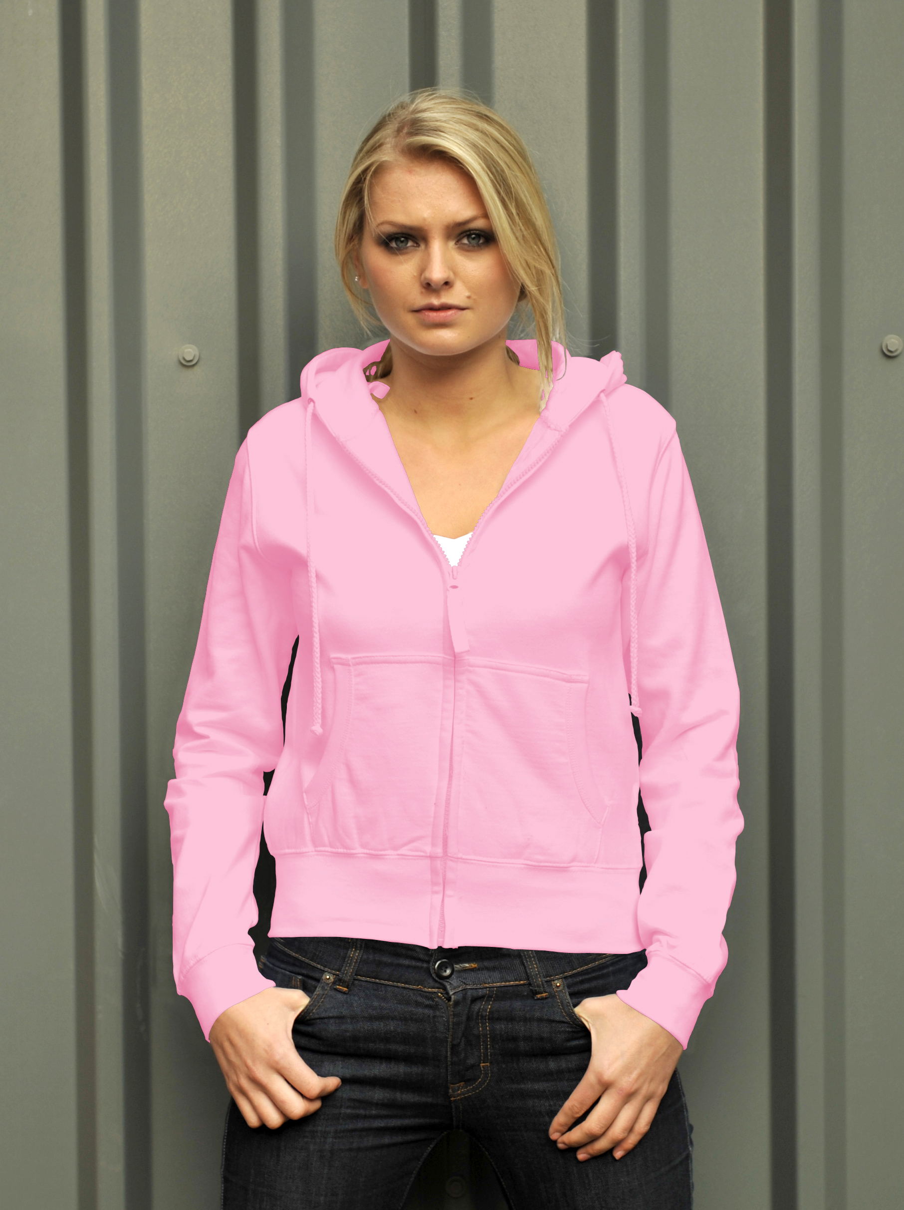 AWDis Girlie Zoodie Baby Pink