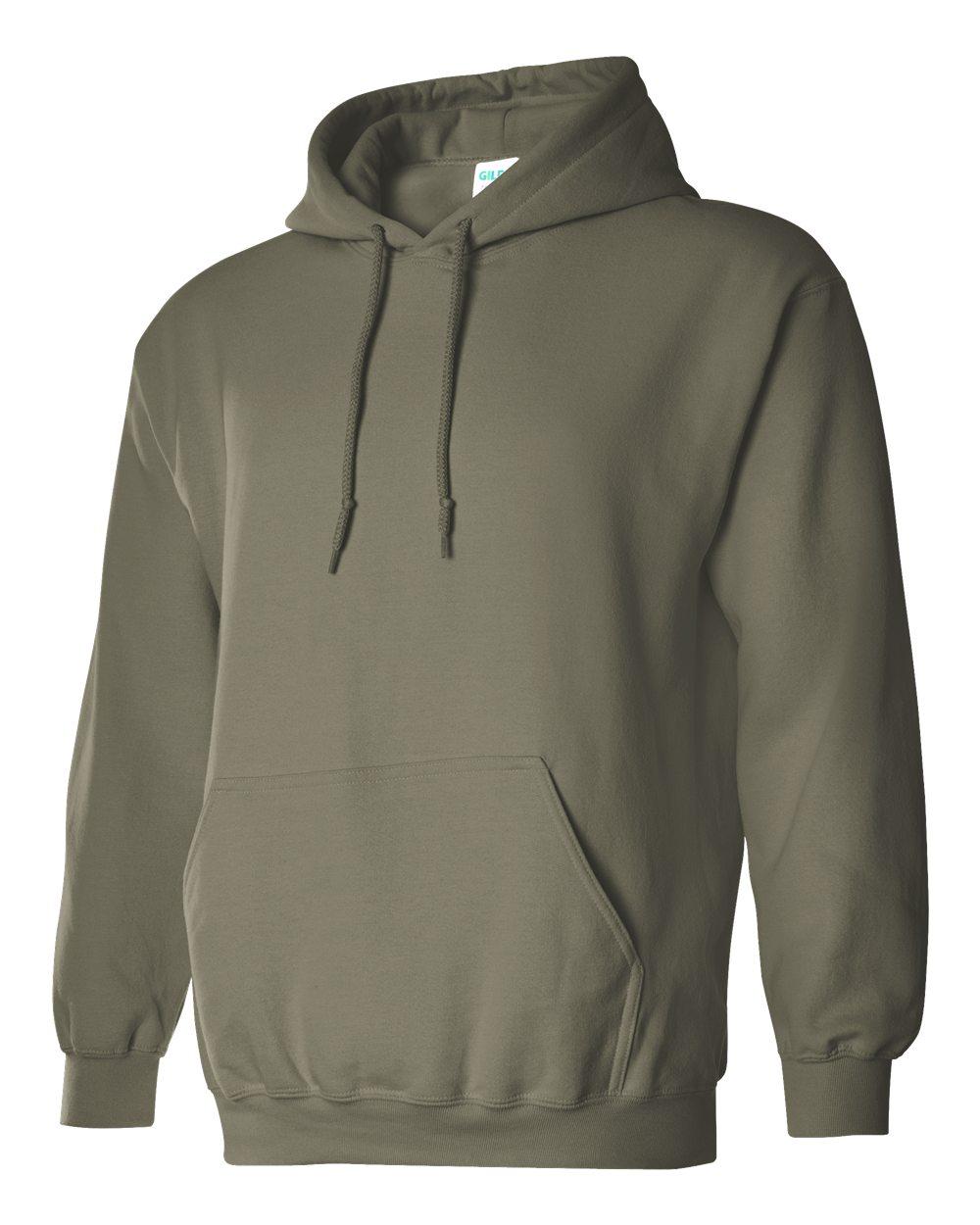 Gildan Heavy Blend Hooded Sweatshirt GI18500 Military Green