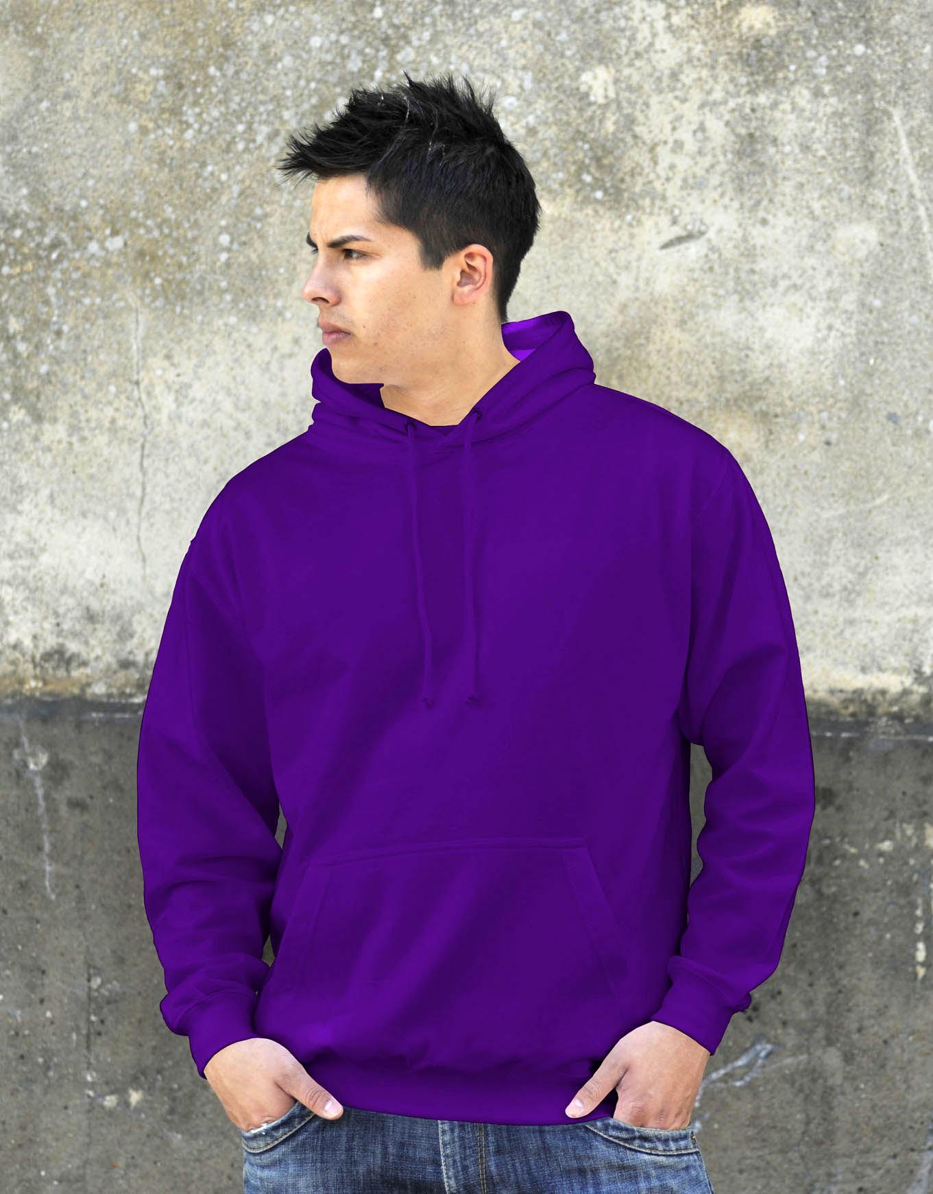 AWDis College Hoodie Purple