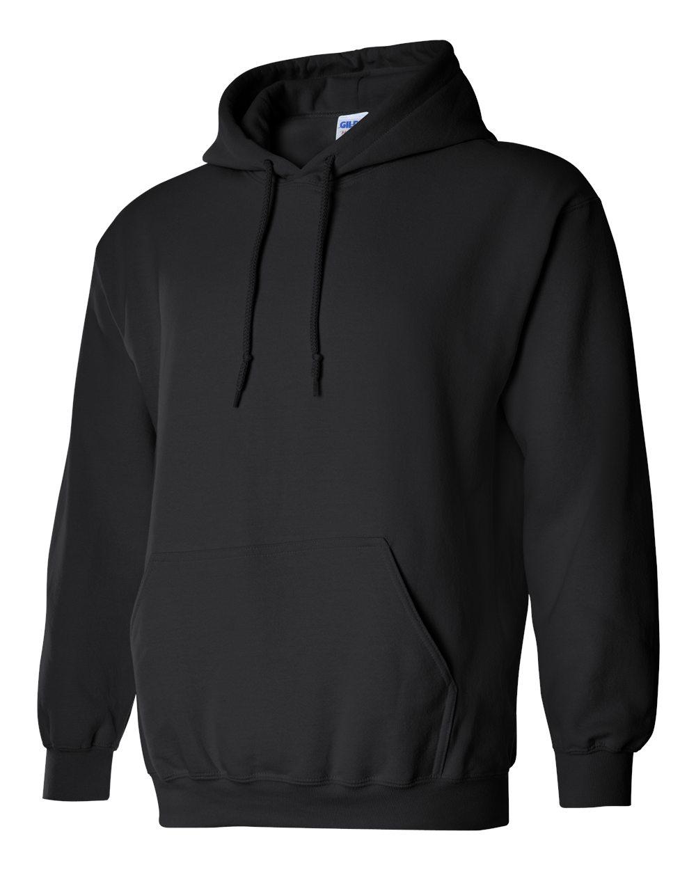 Gildan Heavy Blend Hooded Sweatshirt GI18500 Black