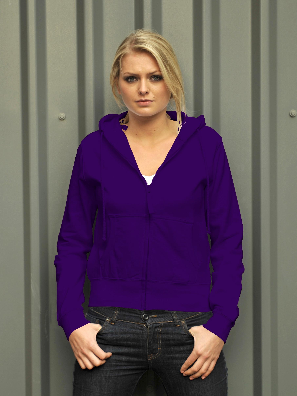 AWDis Girlie Zoodie Purple