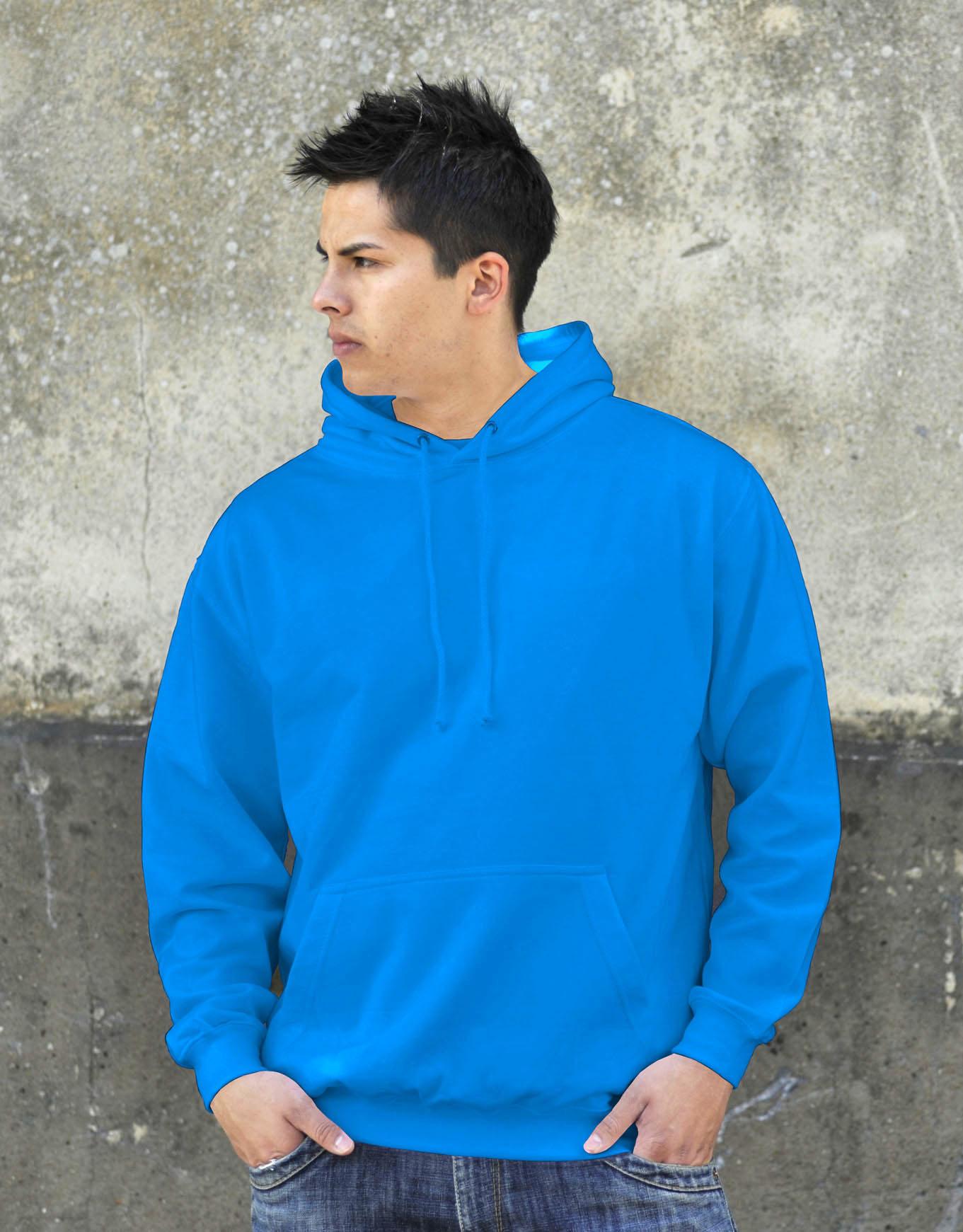 AWDis College Hoodie Sapphire Blue
