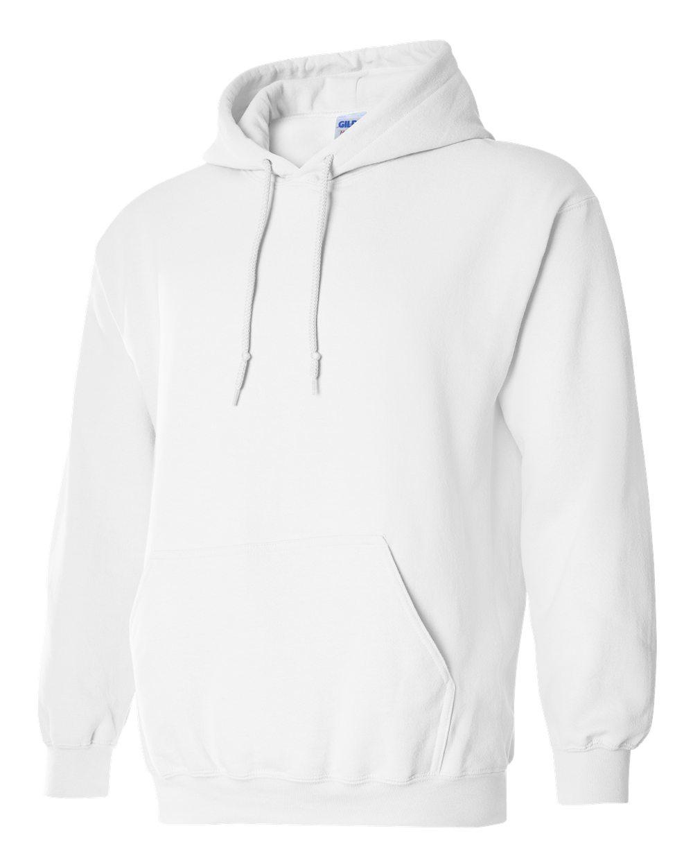 Gildan Heavy Blend Hooded Sweatshirt GI18500 White